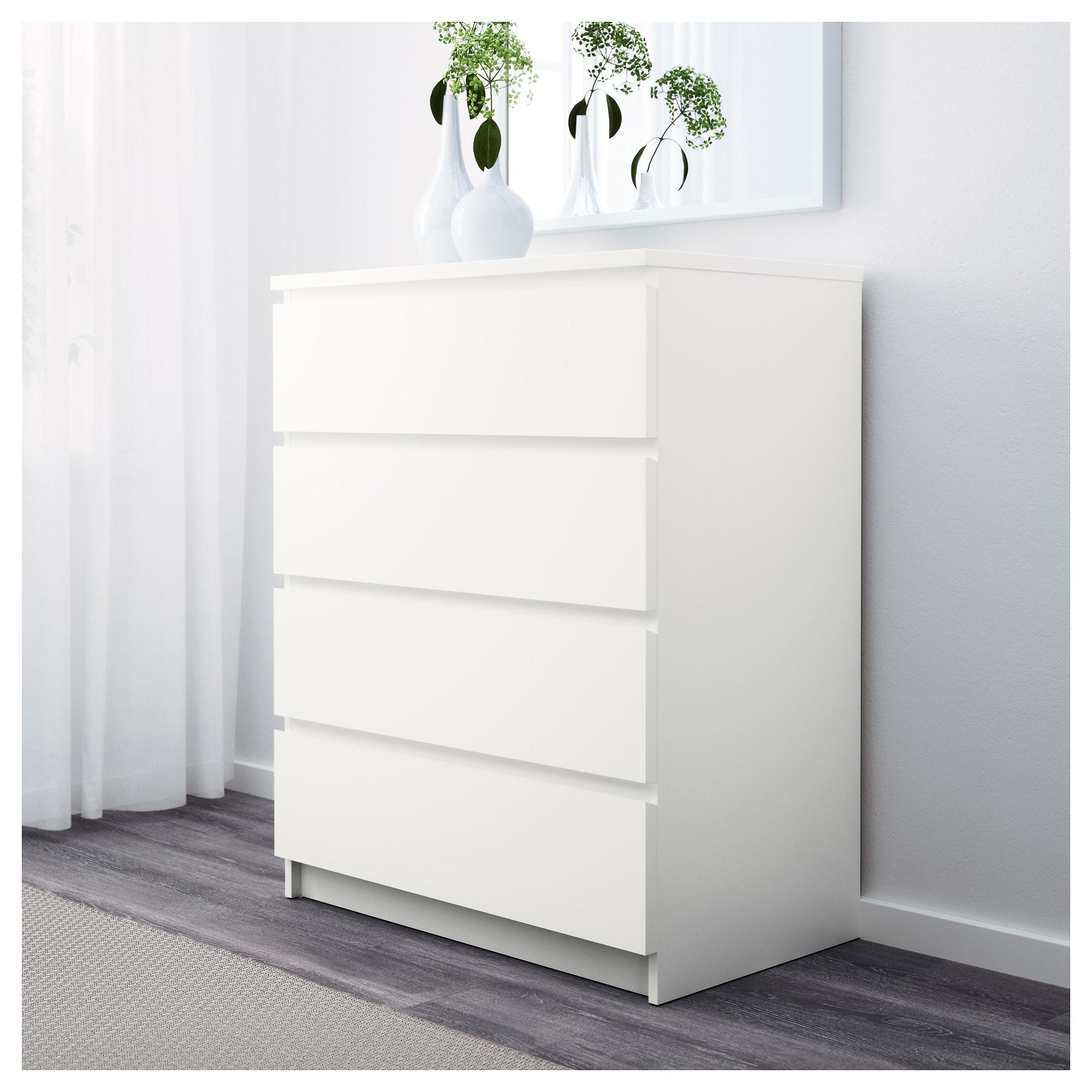 Malm Chest Of 4 Drawers White 80x100 Cm Www Megastore Com Mt