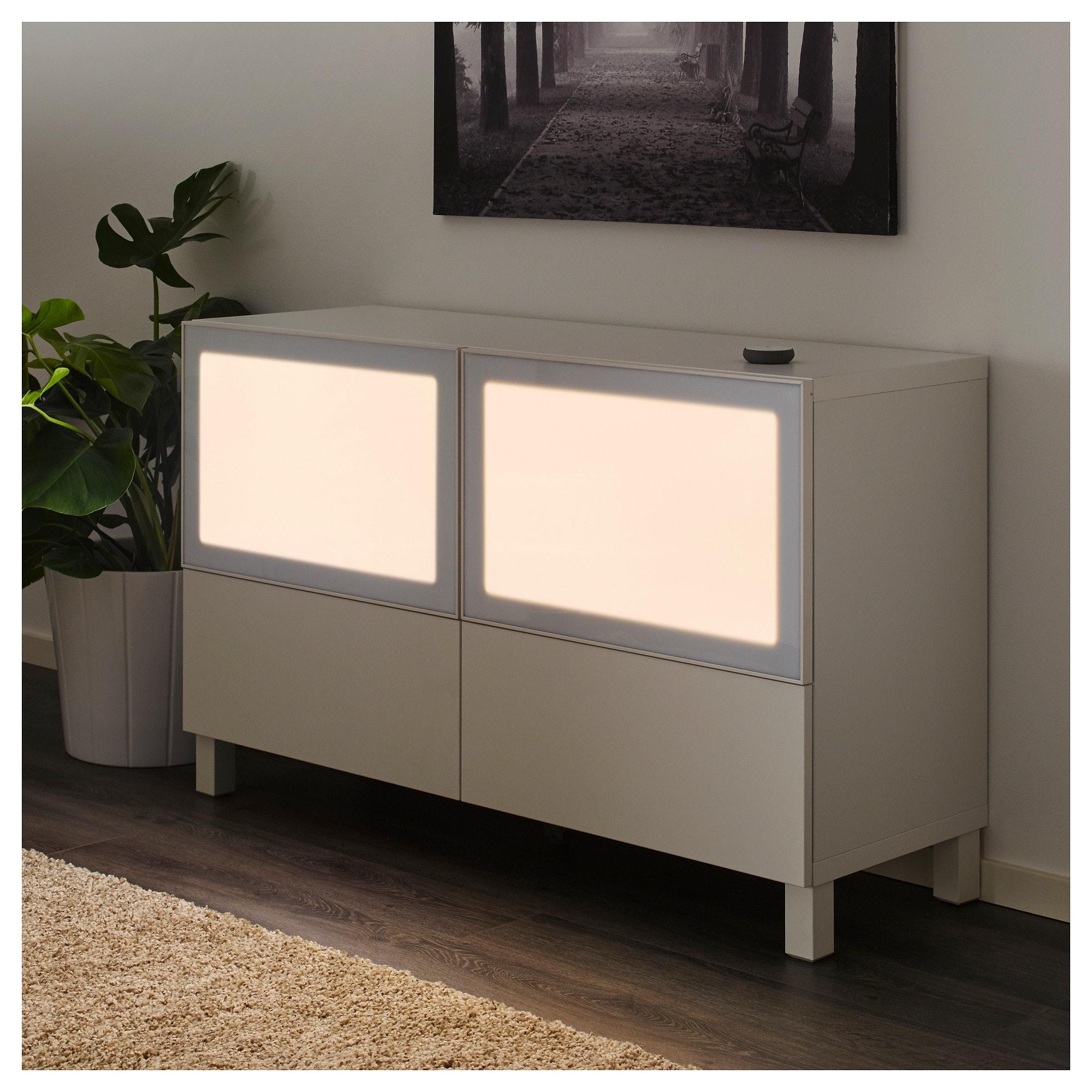 SURTE LED light door w wireless control, dimmable, white spectrum, 60x38 cm